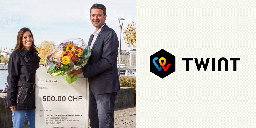 Mobile Zahlungslösung TWINT hat 500'000 Nutzerinnen und Nutzer