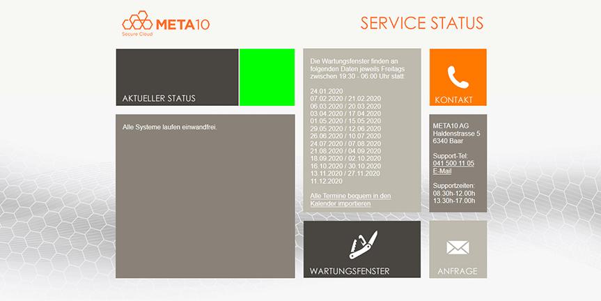 META10.info für den aktuellen META10 DSP Status